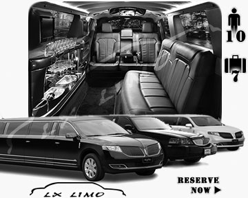 Stretch Limo airport shuttle in Atlanta