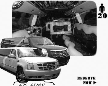 Cadillac Escalade 20 passenger SUV Limousine for rental in Atlanta, GA